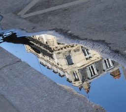 Paris in a puddle